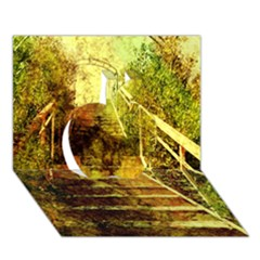 Up Stairs Apple 3d Greeting Card (7x5)