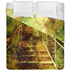Up Stairs Duvet Cover (double Size) by MoreColorsinLife
