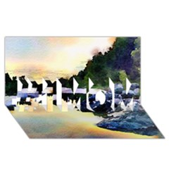 Stunning Nature Evening #1 Mom 3d Greeting Cards (8x4)