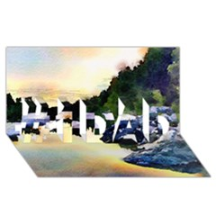 Stunning Nature Evening #1 Dad 3d Greeting Card (8x4)