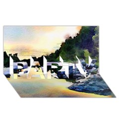 Stunning Nature Evening Party 3d Greeting Card (8x4)