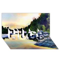 Stunning Nature Evening Hugs 3d Greeting Card (8x4)  by MoreColorsinLife
