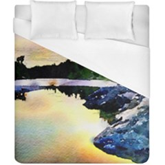 Stunning Nature Evening Duvet Cover Single Side (Double Size) by MoreColorsinLife