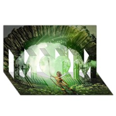 The Gate In The Magical World Mom 3d Greeting Card (8x4)