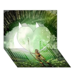 The Gate In The Magical World Heart 3d Greeting Card (7x5)  by FantasyWorld7