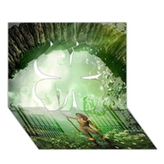 The Gate In The Magical World Clover 3D Greeting Card (7x5)  by FantasyWorld7