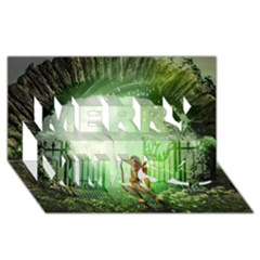 The Gate In The Magical World Merry Xmas 3d Greeting Card (8x4)  by FantasyWorld7