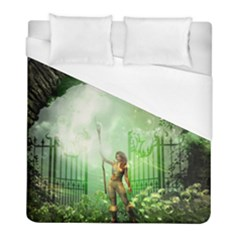 The Gate In The Magical World Duvet Cover Single Side (twin Size) by FantasyWorld7