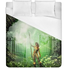 The Gate In The Magical World Duvet Cover Single Side (double Size) by FantasyWorld7