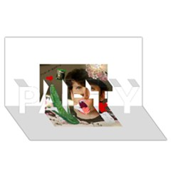 1443925651325 Party 3d Greeting Card (8x4)