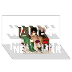 1443925651325 Happy New Year 3d Greeting Card (8x4)