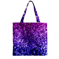 Midnight Glitter Zipper Grocery Tote Bags by KirstenStar