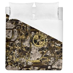 Metal Steampunk  Duvet Cover Single Side (full/queen Size) by MoreColorsinLife