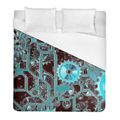 Steampunk Gears Turquoise Duvet Cover Single Side (twin Size) by MoreColorsinLife