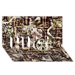 Steampunk 4 Soft Hugs 3d Greeting Card (8x4)