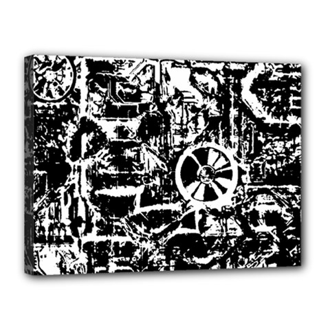 Steampunk Bw Canvas 16  x 12  by MoreColorsinLife