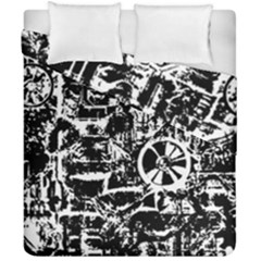 Steampunk Bw Duvet Cover (Double Size)