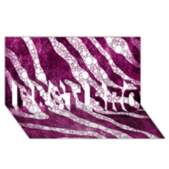 Purple Zebra Print Bling Pattern  Best Bro 3d Greeting Card (8x4)  by OCDesignss
