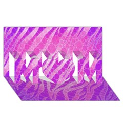 Florescent Pink Zebra Pattern  Mom 3d Greeting Card (8x4)