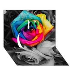 Blach,white Splash Roses Apple 3d Greeting Card (7x5)  by MoreColorsinLife