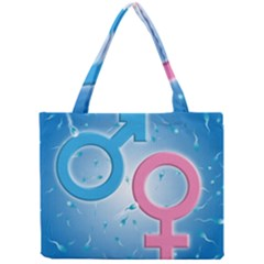 Sperm and Gender Symbols  Tiny Tote Bags by ScienceGeek