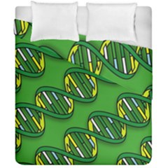 Dna Pattern Duvet Cover (double Size) by ScienceGeek