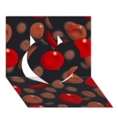 Blood Cells Heart 3d Greeting Card (7x5)  by ScienceGeek