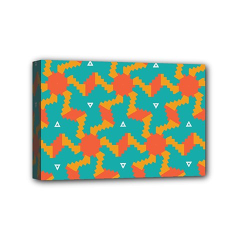 Sun Pattern Mini Canvas 6  X 4  (stretched) by LalyLauraFLM
