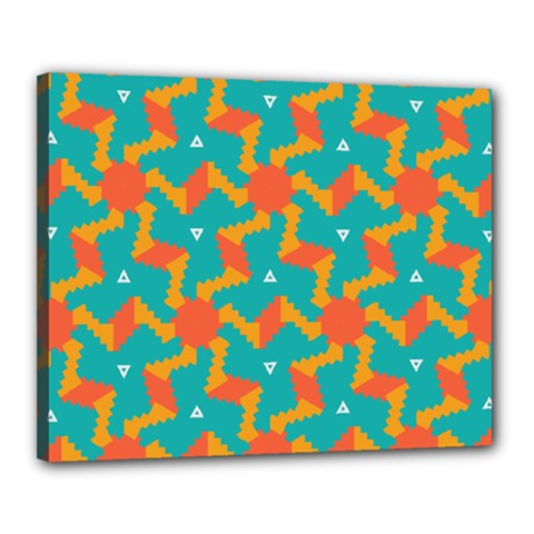 Sun Pattern Canvas 20  X 16  (stretched) by LalyLauraFLM