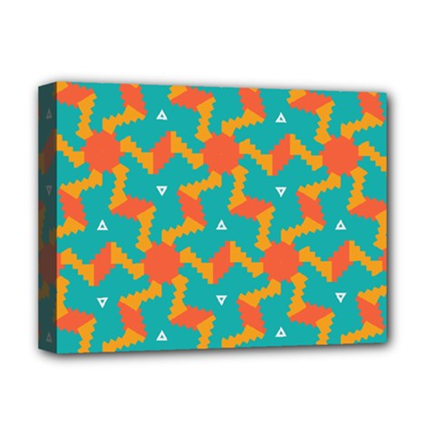 Sun Pattern Deluxe Canvas 16  X 12  (stretched)  by LalyLauraFLM