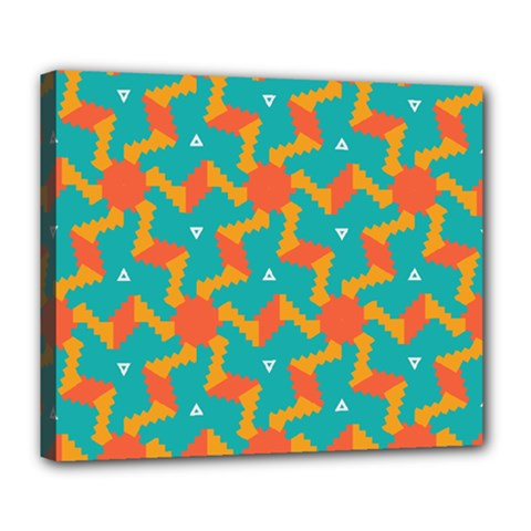 Sun Pattern Deluxe Canvas 24  X 20  (stretched) by LalyLauraFLM