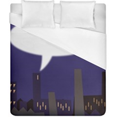 City Speech  Duvet Cover Single Side (double Size) by theimagezone