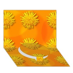 Dandelion Pattern Circle Bottom 3d Greeting Card (7x5)  by theimagezone