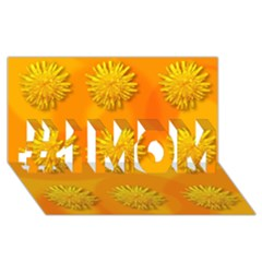 Dandelion Pattern #1 Mom 3d Greeting Cards (8x4)