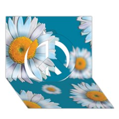 Floating Daisies Peace Sign 3d Greeting Card (7x5)  by theimagezone