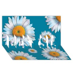 Floating Daisies Best Sis 3d Greeting Card (8x4)  by theimagezone