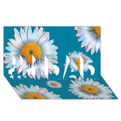 Floating Daisies #1 Dad 3d Greeting Card (8x4)  by theimagezone