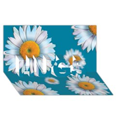 Floating Daisies HUGS 3D Greeting Card (8x4)  by theimagezone