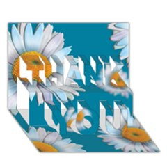 Floating Daisies Thank You 3d Greeting Card (7x5)  by theimagezone