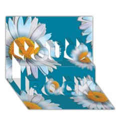 Floating Daisies You Rock 3d Greeting Card (7x5)  by theimagezone