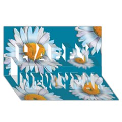 Floating Daisies Happy New Year 3d Greeting Card (8x4)  by theimagezone