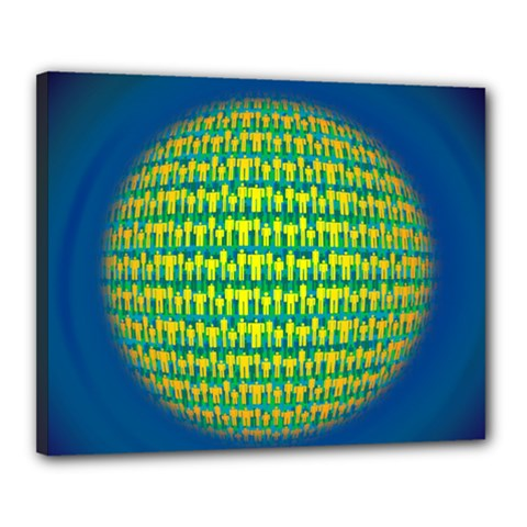 People Planet  Canvas 20  X 16  by theimagezone