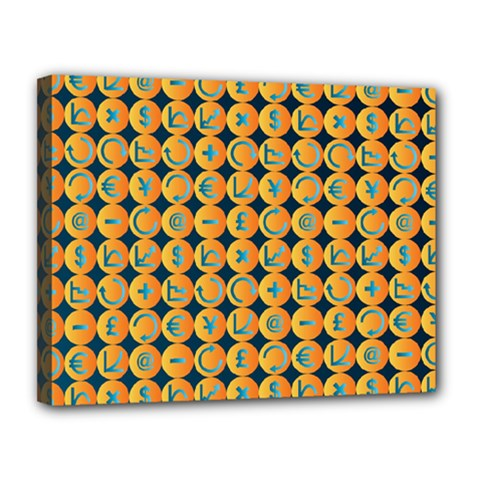 Symbols Pattern Canvas 14  X 11  by theimagezone
