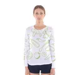 Green Vegetables Women s Long Sleeve T Shirts by Famous