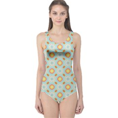Cute Seamless Tile Pattern Gifts Women s One Piece Swimsuits by creativemom
