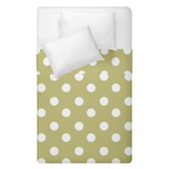 Lime Green Polka Dots Duvet Cover (single Size) by creativemom