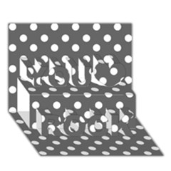 Gray Polka Dots You Rock 3d Greeting Card (7x5)
