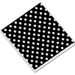 Black And White Polka Dots Small Memo Pads