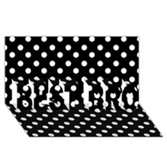 Black And White Polka Dots Best Bro 3d Greeting Card (8x4)