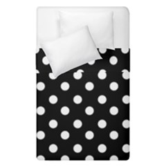 Black And White Polka Dots Duvet Cover (single Size) by creativemom